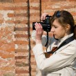 Women Photographer — Stock Photo