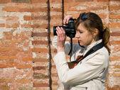 Women Photographer — Stock Photo