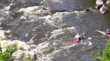 Full HD: White Water Rafting — Stock Video