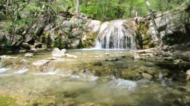 Beautiful mountain stream — Stock Video