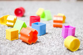 Colorful toy blocks — Stock Photo