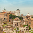 Stock Photo: Roman Forum Ruins