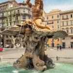 Triton Fountain at Piazza Barberini — Stock Photo