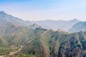 The Great Wall in Mountains — Stock Photo