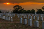 Vojenský hřbitov — Stock fotografie