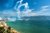 Flyguppvisning i acapulco — Stockfoto