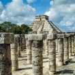 Columns in the Temple of Thousand Warriors — Stock Photo
