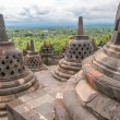 Stock Photo: Borobudur Stupas