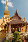 Pha That Luang in Vientiane City — Stock Photo
