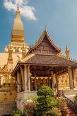 Pha luang en la ciudad de vientiane — Foto de Stock