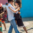 Tango in The Streets La Boca — Stock Photo