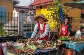 Food Prepared on The Street Vang Vieng — Stock Photo