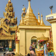 Pray in Sule Pagoda — Stockfoto #30485059