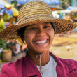 Smiley Myanmar Woman — Stock Photo