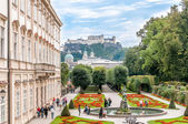 Gardens in Mirabell Palace - Salzburg — Stock Photo