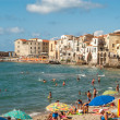Cefalu Beach — Stock Photo
