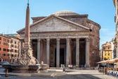 The Pantheon and the Fontana del Pantheon — Stock Photo