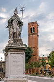 Statue of Saint Sylvester — Stock Photo