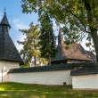 Stock Photo: Entrance to Wooden Church All Saints in Tvrdosin