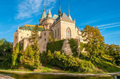 Bojnice Castle with a Moat — Stock Photo