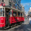 Nostalgic tram of Istanbul — Stock Photo
