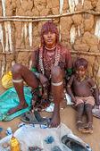 Hamar woman with child — Stock Photo