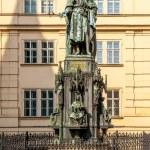 Statue of Charles IV near Charles Bridge — Stock Photo #45007701