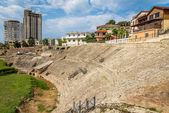 Ruins of Durres Amphitheatre. — Stock Photo