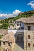 Old Ottoman houses in Gjirokaster — Stok fotoğraf