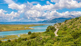 Lagoon in Butrint archeological site — Foto Stock