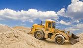 Excavator in quarry — Stock Photo