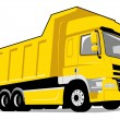 Yellow dump truck — Stock Vector