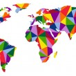 Colorful map of world abstract — Stock Vector