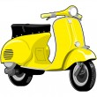 Stock Vector: Scooter motorcycle vintage