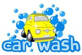 Wash car — Stock Vector