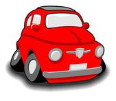 Funny cartoon car — Vector de stock