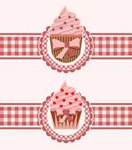 Cupcake background — Stockvector