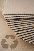 Cardboard recycle — Stock Photo