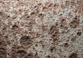Macro of corroded iron plate — Stock Photo
