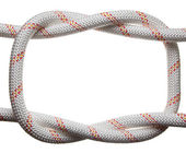 Frame of rope reef-knot — Stock Photo