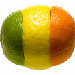 Composition of three citruses parts — Stock Photo #29039839