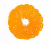 Macro of mandarine cross-section — Stock Photo