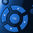 Stock Photo: Remote control colorized in blue