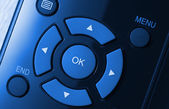 Remote control colorized in blue — Stock Photo