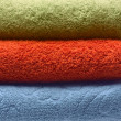 Closeup of bath towels set — Stock Photo