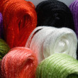 Colorful threads hanks — Stock Photo