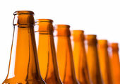 Bottle necks in a row — Stock Photo