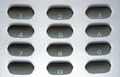Digital grey keypad — 图库照片