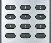 Macro of remote keypad — Stock Photo