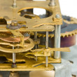 Macro of old clock mechanism — Stock Photo